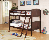 Twin/Twin Bunk Bed Cappuccino Finish