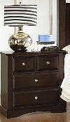 Nightstand in Cappuccino Finish
