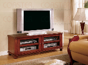 TV Stand in Light Walnut Finish