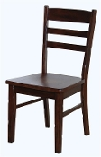 2 Cappuccino Ladderback Dining Chairs