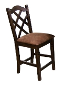 2 Cappuccino Gathering Height Dining Chairs