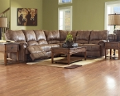 Briscoe Microfiber Reclining Sectional