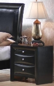 Nightstand in Glossy Black Finish