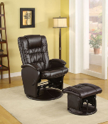 Deluxe Glider Rocker with Gliding Ottoman