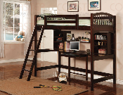Cappuccino Loft Bed with Workstation