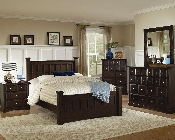 Harbor Queen Bed in Cappuccino Finish