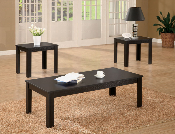 3 Pc Black Occasional Set