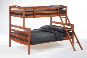 Sesame Twin over Full Bunk Bed Chocolate Finish