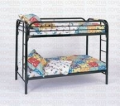 Black Metal Twin/Twin Bunk bed