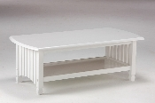 Standard White Finish Solid Wood Key West Coffee Table