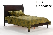Spices Dark Chocolate Finish Black Pepper Bed or Platform Bed