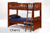 Spices Cinnamon Solid Wood Twin over Twin Bunk Bed