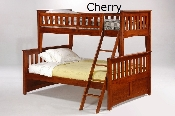 Spices Ginger Solid Wood Twin over Full Bunk Bed