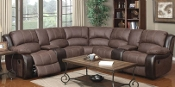 6 pc Sectional with reclining ends
