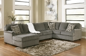 Loric Smoke 3 Piece LAF Chaise Sectional