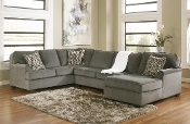 Loric Smoke 3 Piece RAF Chaise Sectional