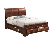 Lincoln (Sleigh) Queen Storage Bed