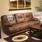 Voyager Lay Flat Reclining Sofa with Drop Down Table 43845