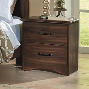 2 Drawer Night Stand WALNUT FINISH 61222 (Closeout!)