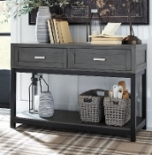 Caitbrook Gray/Black Console Table T454-4
