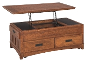 Cross Island Lift-Top Storage Cocktail Table T719-9