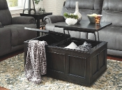Gavelston Rubbed Black Lift Top Cocktail Table T752-9