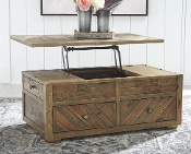 Grindleburg Grayish Brown Lift Top Coffee Table T754-20
