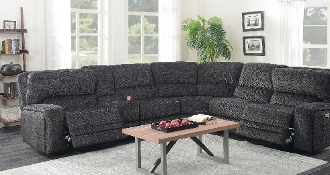 Power Reclining 6 PC Sectional w/Pwr Headrest 7550