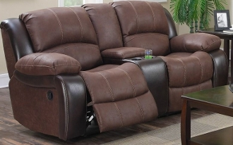 Reclining Love w/console Two Tone 3660-2CR