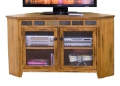 Corner TV Cart RUSTIC OAK 3399RO2