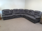Rainier 6 piece Power Modular Sectional/Charcoal Grey
