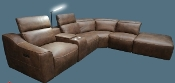 LAF Reclining w/armles recliner Sectional Package