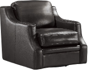 Grandview Leather SWIVEL CHAIR Espresso(LAST ONE!)
