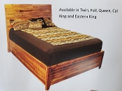Timberline Solid Acacia Wood E.King Panel Bed