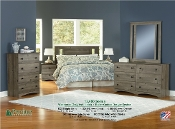 Weathered Gray Ash 4 PC Bedroom Set