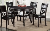 Gia Brown 5 Piece Round Dining Room Set(LAST ONE!)