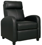 Declo Black Low Leg Recliner