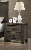 Blue Ridge Night Stand Blue Rustic Gray