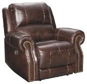 Buncrana Chocolate Power Recliner