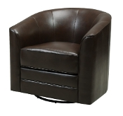 SWIVEL CHAIR-DARK BROWN