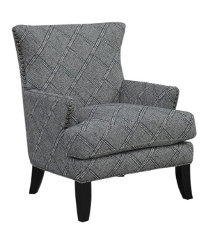 Nola ACCENT CHAIR Blue Shibori Indigo