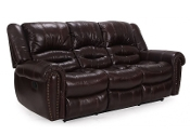 Leather Reclining Sofa (CLOSEOUT!)