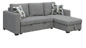 Langley Fossil Gray Reversible Convertible Storage Sectional