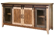 "Rustic 60"" TV Console  ANTIQUE Collection"