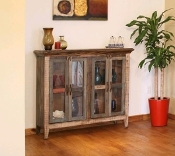 ANTIQUE COLLECTION Console W/4 GLASS DOORS