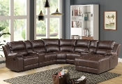 Rivers 4 Pc Reclining Chaise Sectional