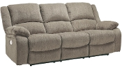 Draycoll Pewter Power Reclining Sofa