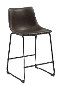 Rec Room Bar Stool in Two Tone Brown Leatherette
