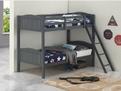Littletown Twin over Twin Bunk Bed Grey