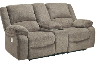 Draycoll Pewter DBL REC PWR Loveseat w/Console